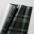Plaid Gift Wrap - Black/Green - Hearth & Hand with Magnolia